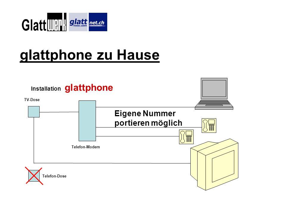 glattphone zu Hause Eigene Nummer portieren möglich