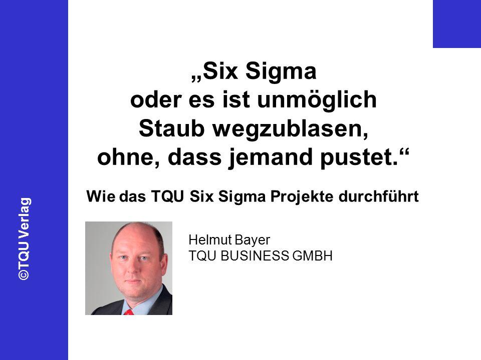 """""""Six Sigma oder es ist unmöglich Staub wegzublasen, ohne, dass jemand pustet."""