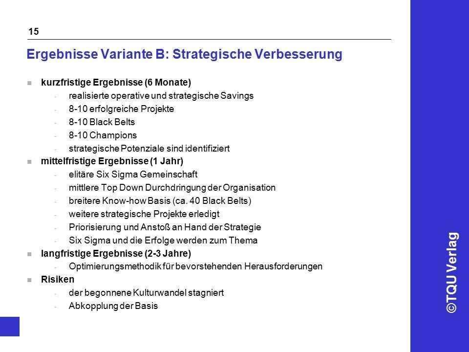 Ergebnisse Variante B: Strategische Verbesserung