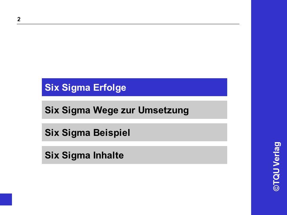 Six Sigma Erfolge Six Sigma Wege zur Umsetzung Six Sigma Beispiel Six Sigma Inhalte