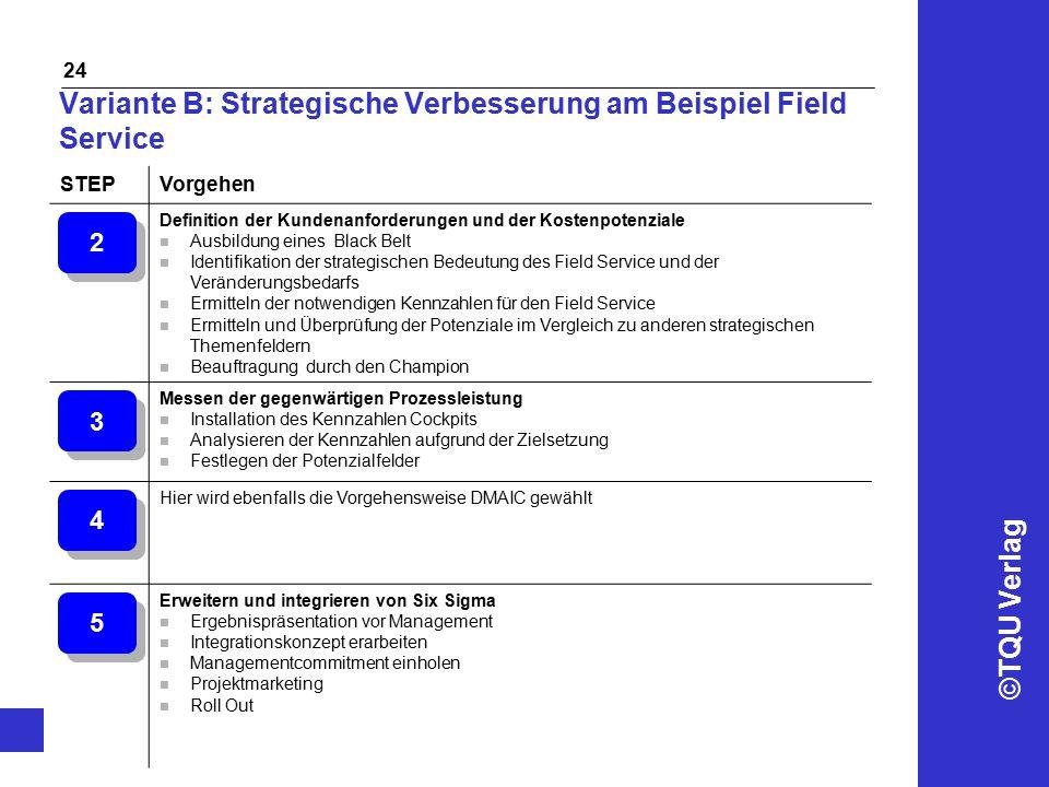 Variante B: Strategische Verbesserung am Beispiel Field Service