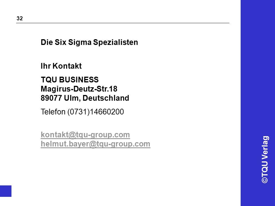 Die Six Sigma Spezialisten