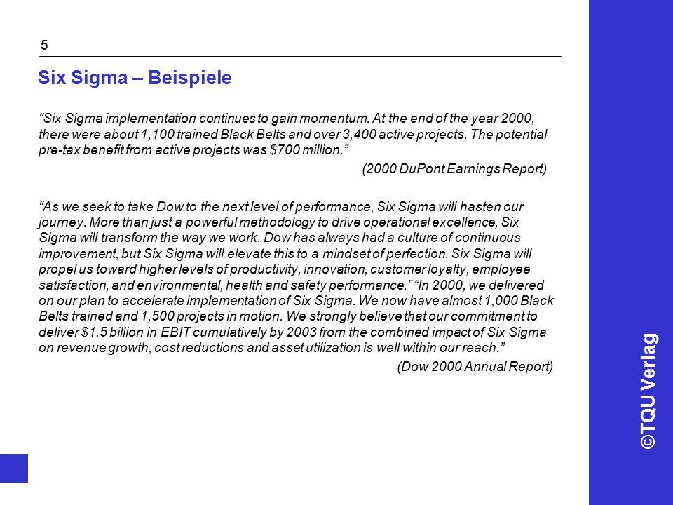 Six Sigma – Beispiele