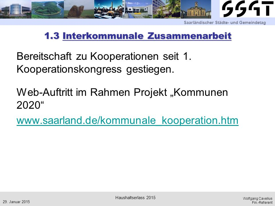 1.3 Interkommunale Zusammenarbeit