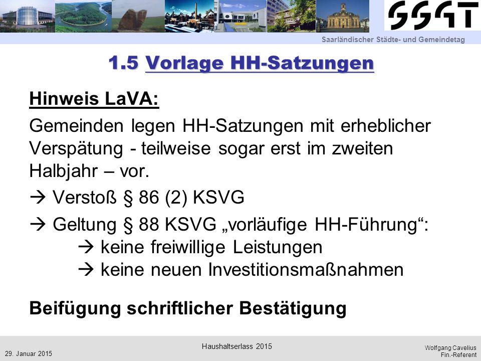 1.5 Vorlage HH-Satzungen