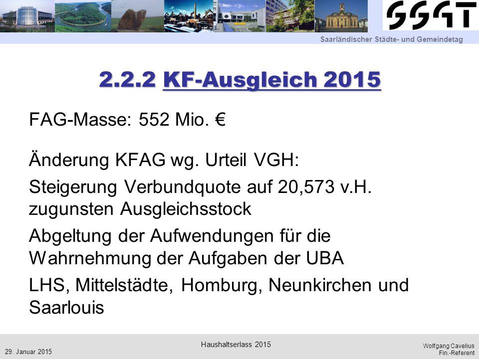 2.2.2 KF-Ausgleich 2015
