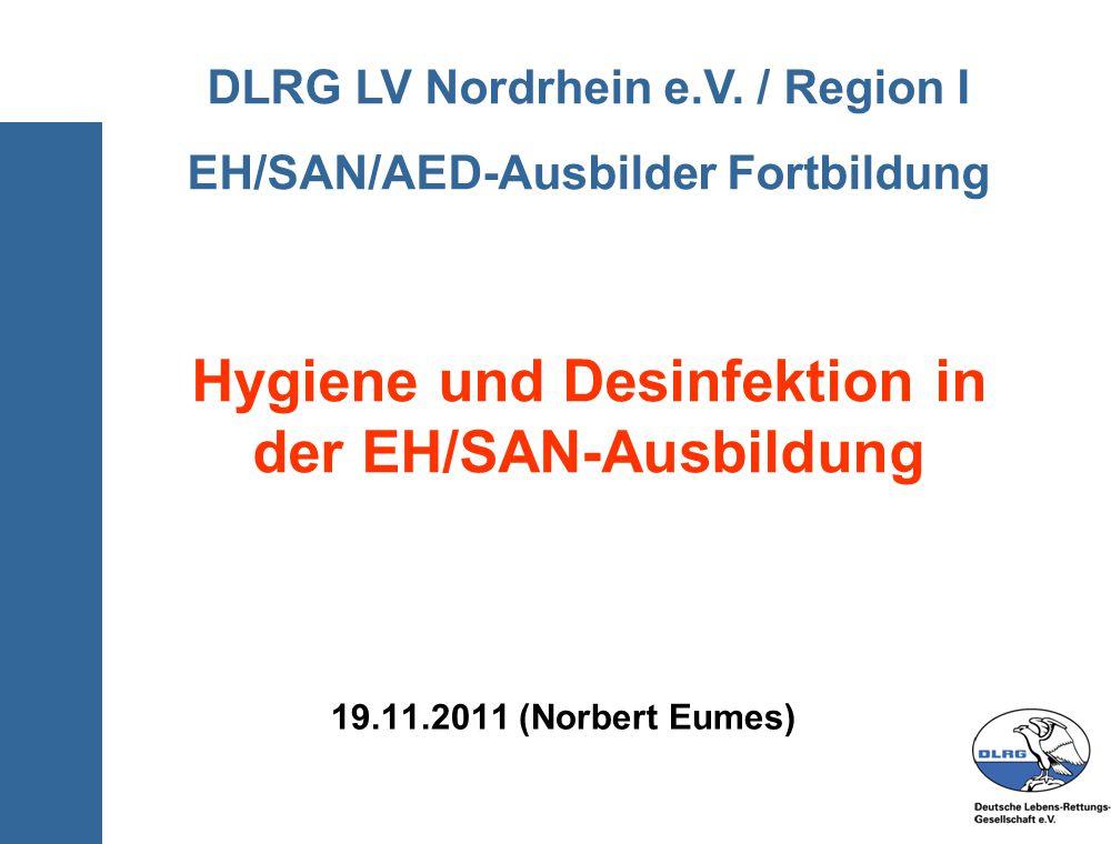 Hygiene und Desinfektion in der EH/SAN-Ausbildung