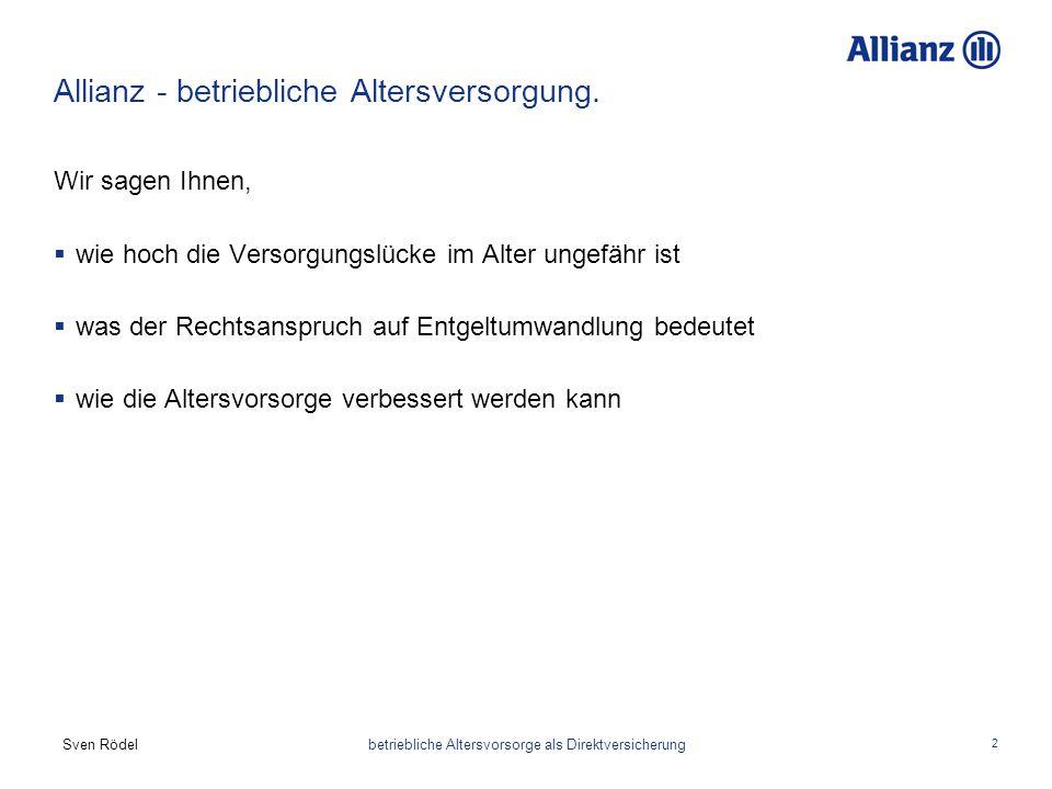 Allianz - betriebliche Altersversorgung.