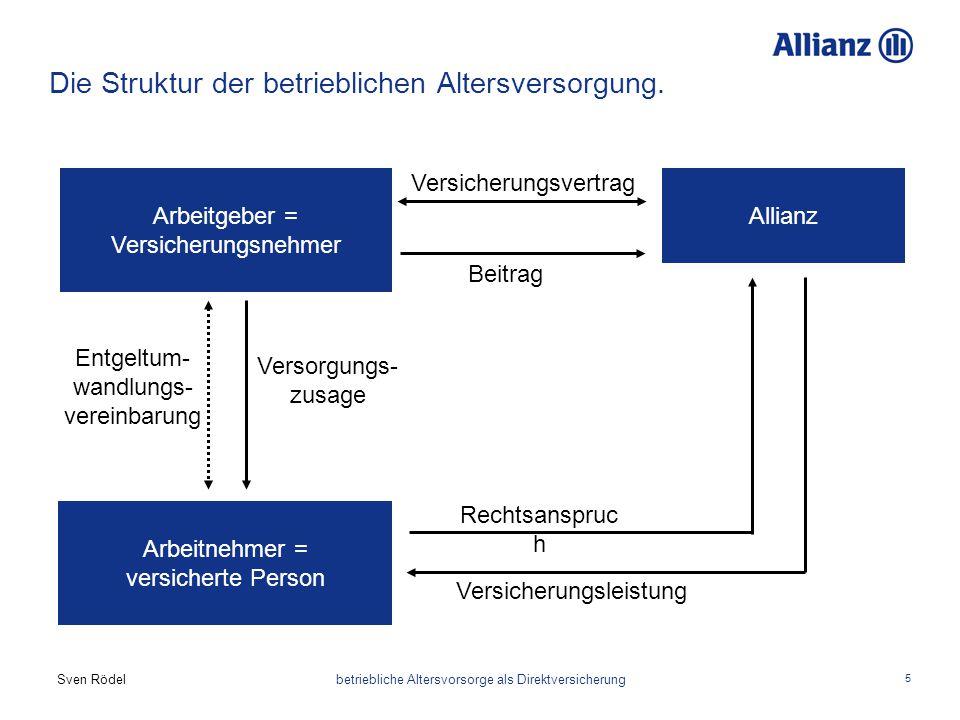 Die Struktur der betrieblichen Altersversorgung.