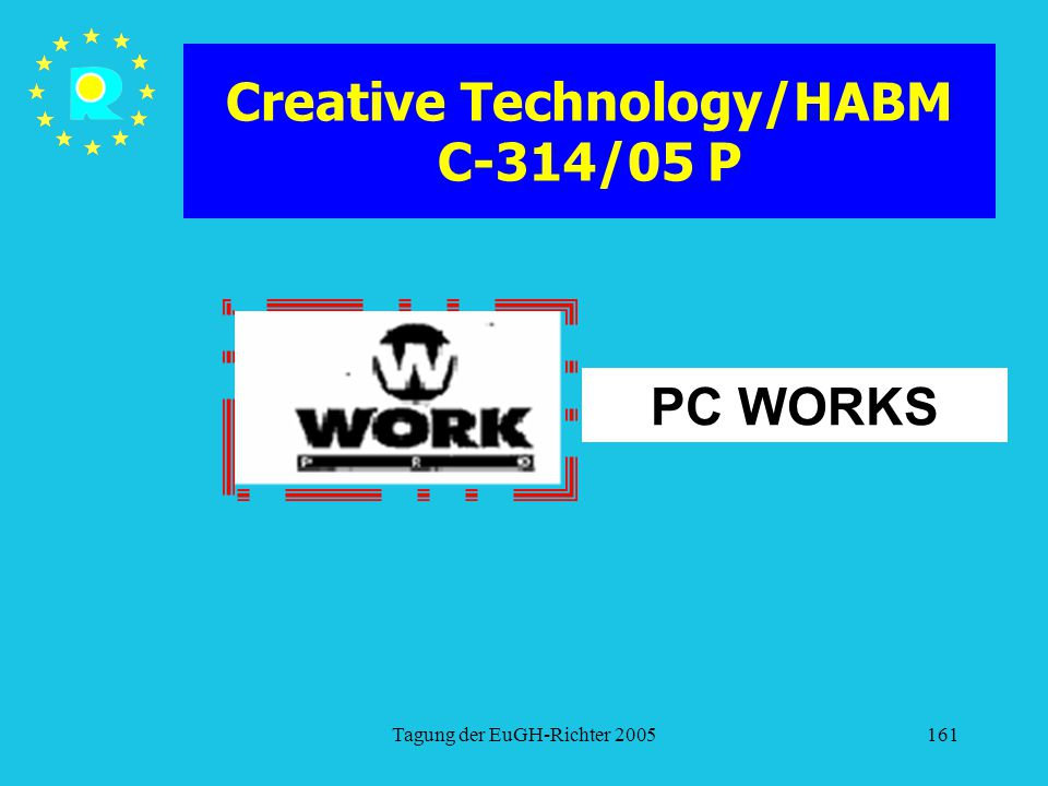 Creative Technology/HABM C-314/05 P