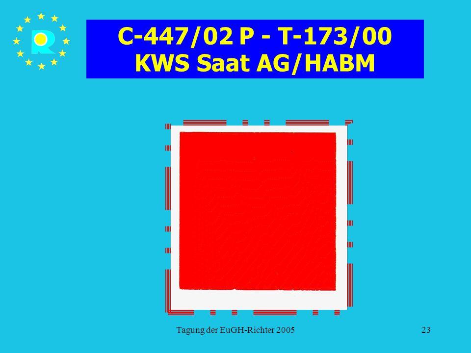 C-447/02 P - T-173/00 KWS Saat AG/HABM