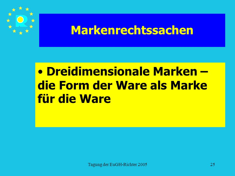 Dreidimensionale Marken – die Form der Ware als Marke für die Ware
