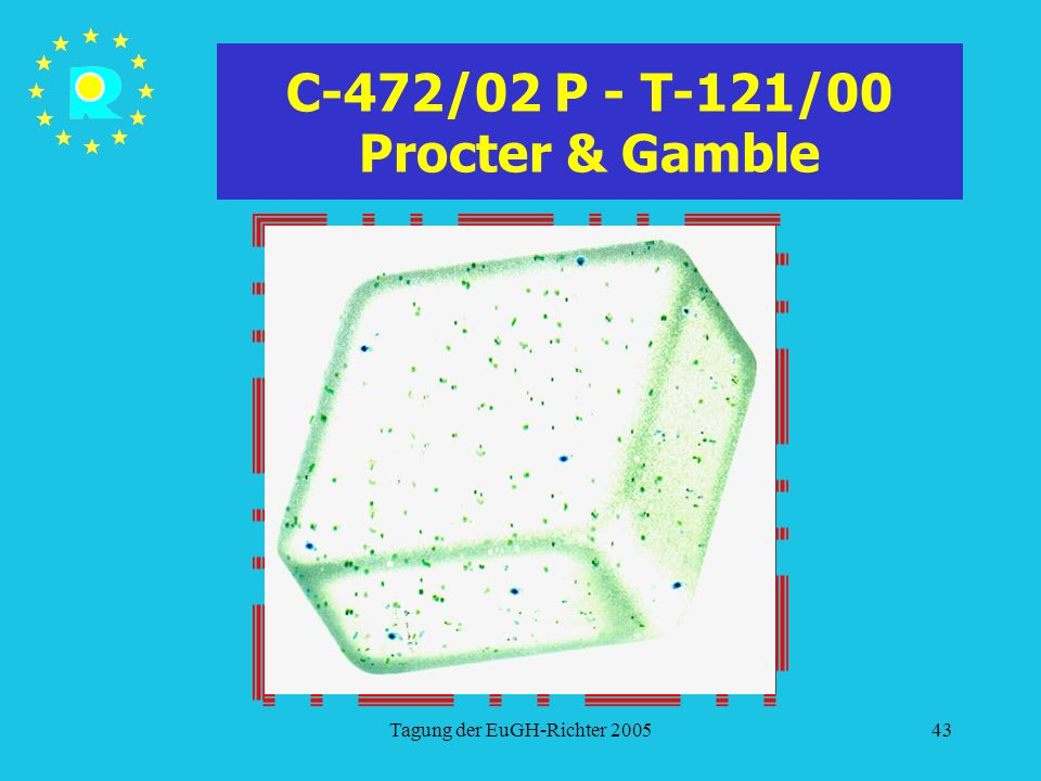 C-472/02 P - T-121/00 Procter & Gamble