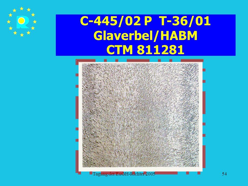 C-445/02 P T-36/01 Glaverbel/HABM CTM 811281