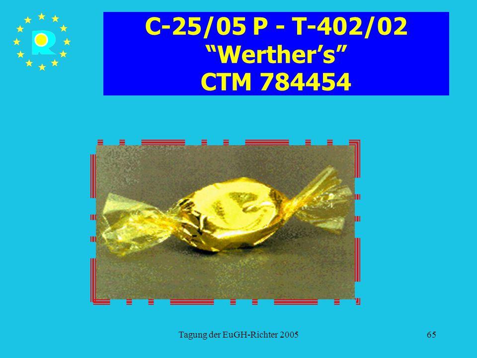C-25/05 P - T-402/02 Werther's CTM 784454