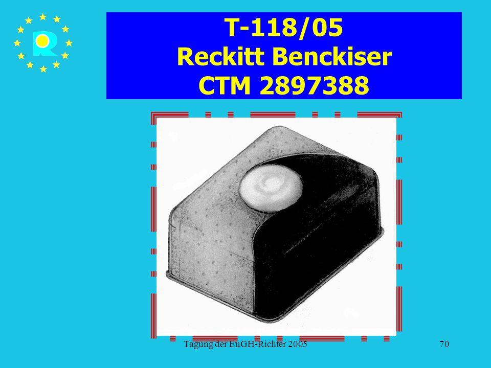 T-118/05 Reckitt Benckiser CTM 2897388