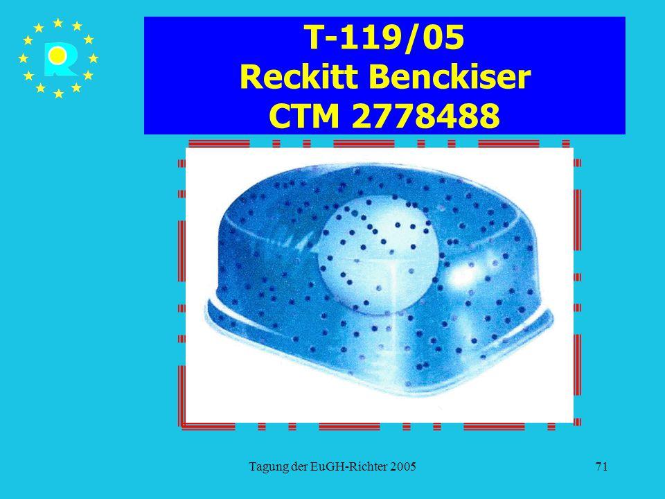 T-119/05 Reckitt Benckiser CTM 2778488