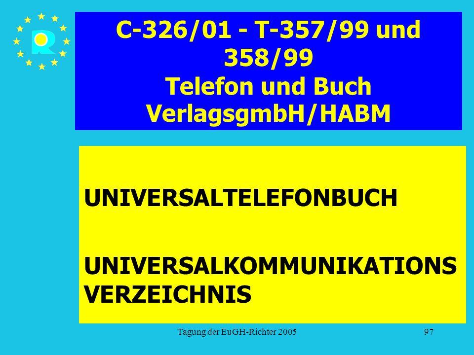 C-326/01 - T-357/99 und 358/99 Telefon und Buch VerlagsgmbH/HABM