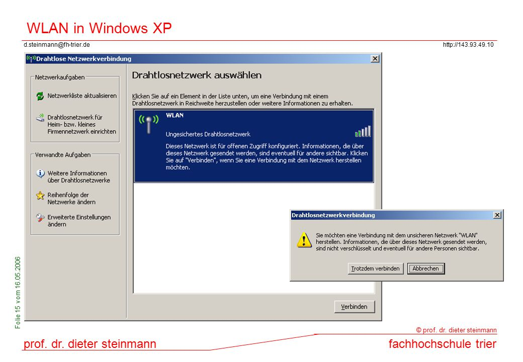 WLAN in Windows XP