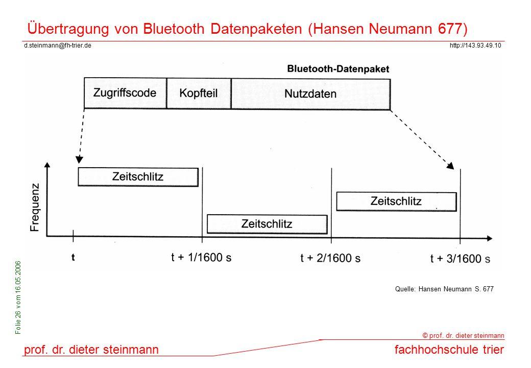 Übertragung von Bluetooth Datenpaketen (Hansen Neumann 677)