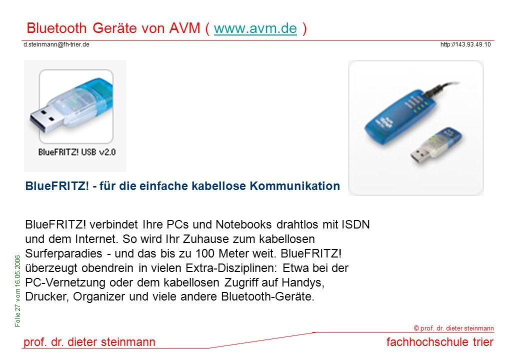 Bluetooth Geräte von AVM ( www.avm.de )