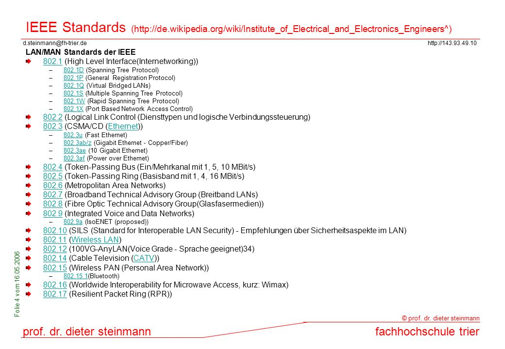 IEEE Standards (http://de. wikipedia