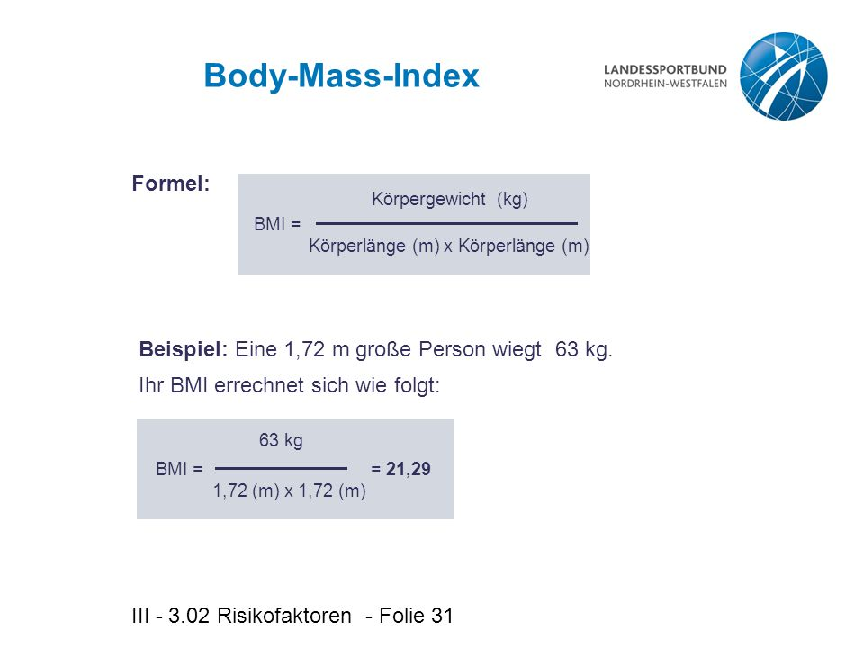 Körperlänge (m) x Körperlänge (m)