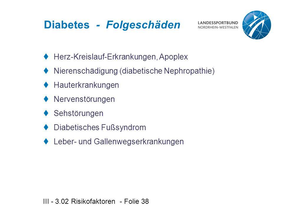 Diabetes - Folgeschäden
