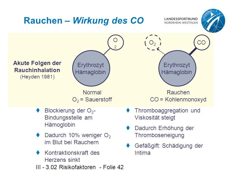 Rauchen – Wirkung des CO