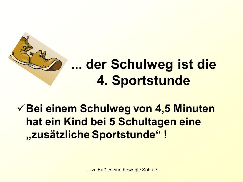 ... der Schulweg ist die 4. Sportstunde
