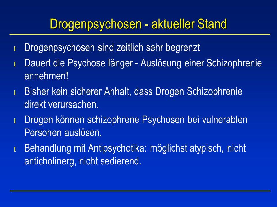 Drogenpsychosen - aktueller Stand