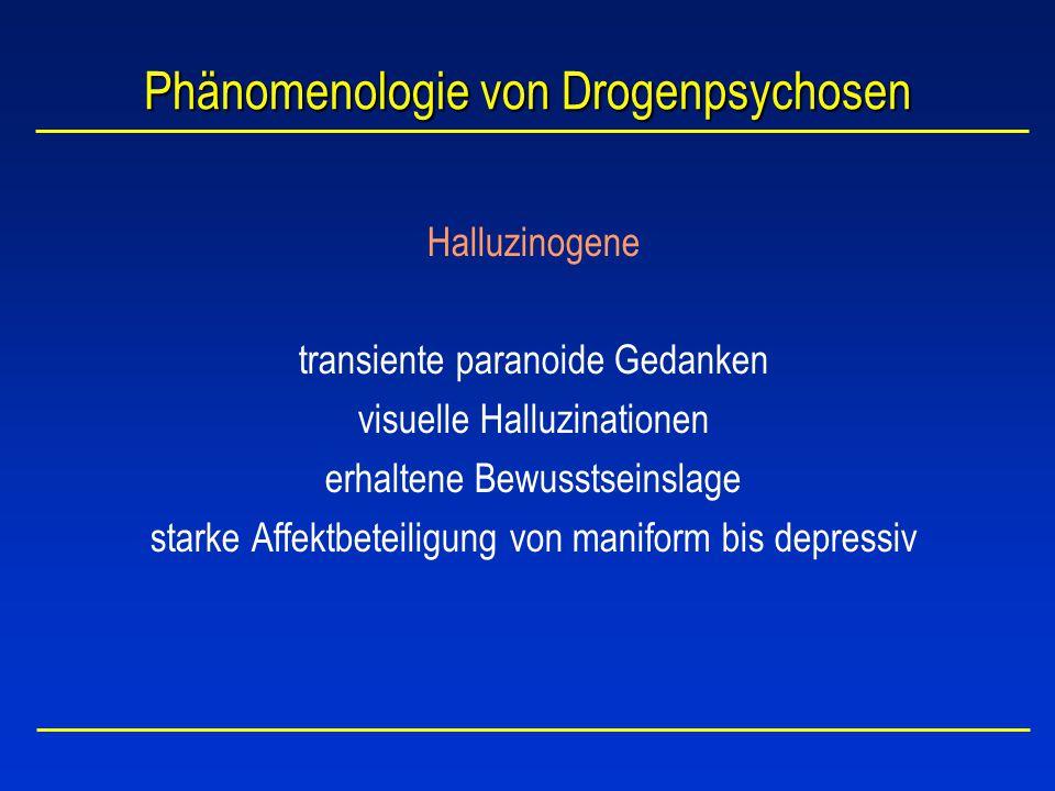 Phänomenologie von Drogenpsychosen