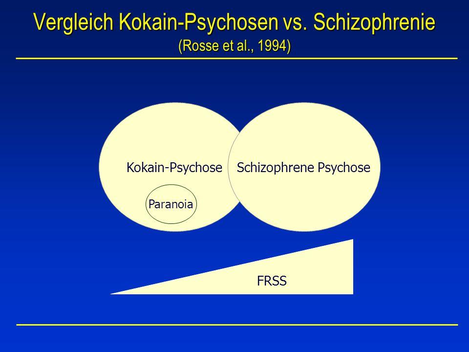 Vergleich Kokain-Psychosen vs. Schizophrenie (Rosse et al., 1994)