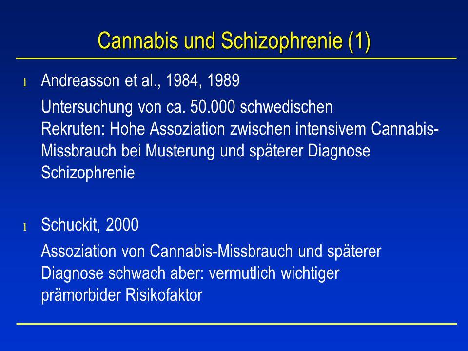 Cannabis und Schizophrenie (1)