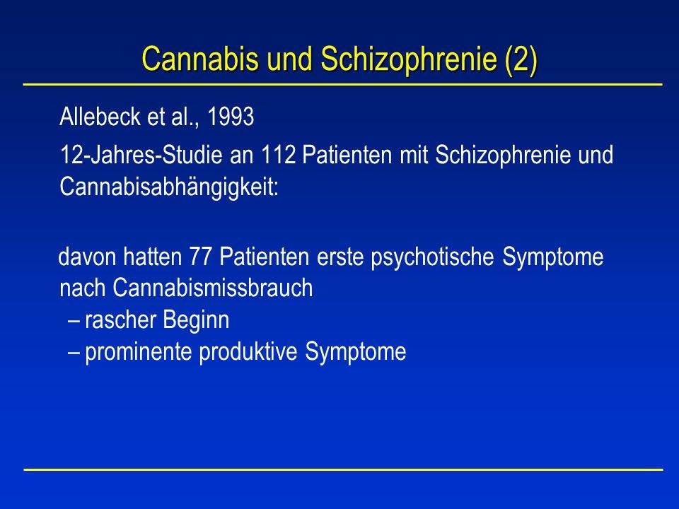 Cannabis und Schizophrenie (2)