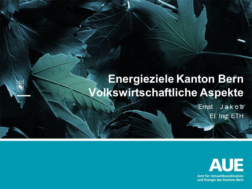 Energieziele Kanton Bern Volkswirtschaftliche Aspekte
