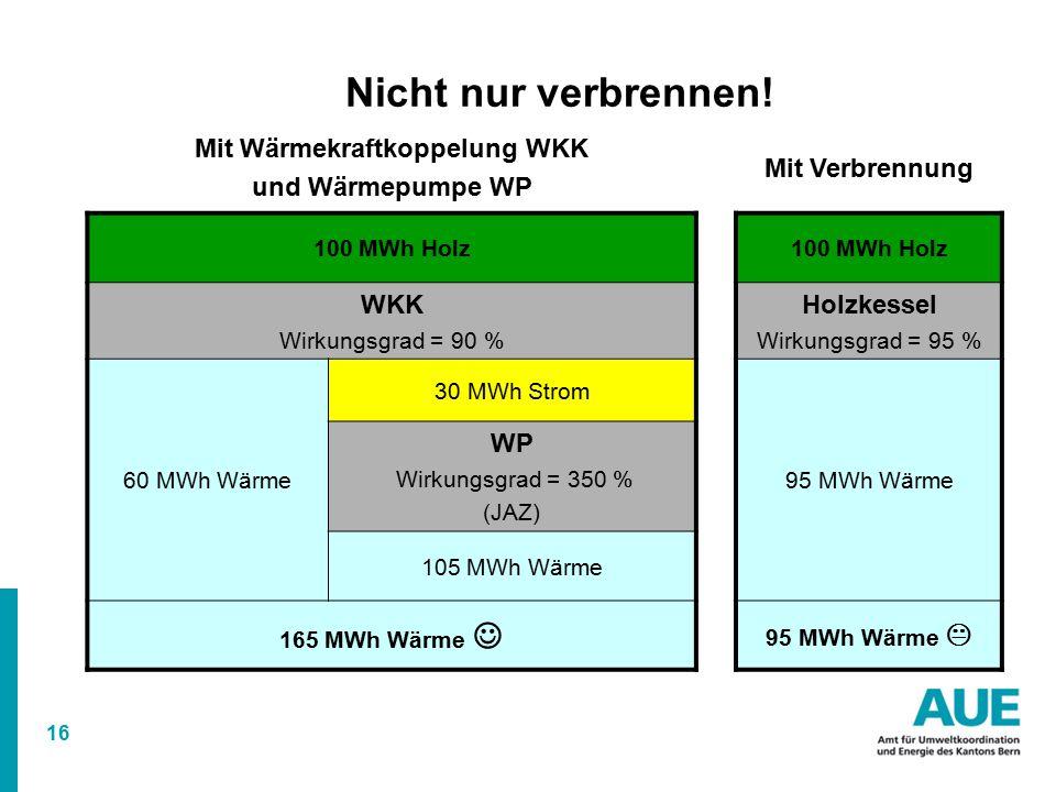 Mit Wärmekraftkoppelung WKK