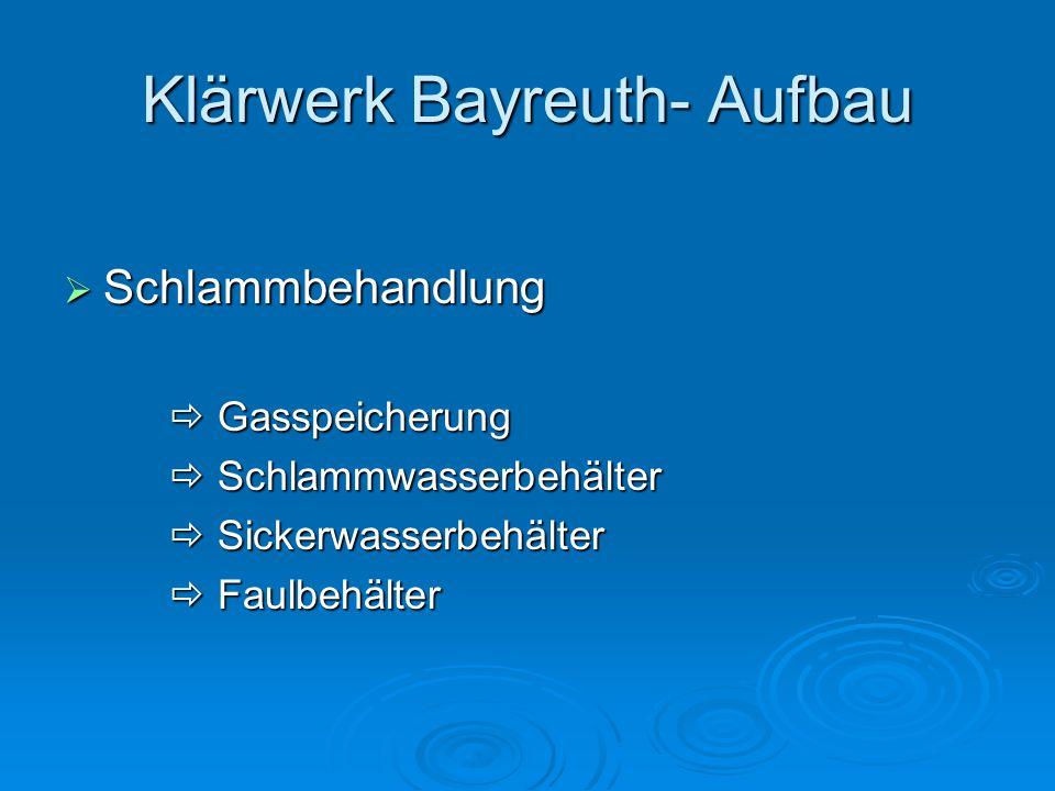 Klärwerk Bayreuth- Aufbau