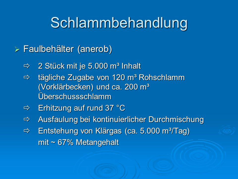 Schlammbehandlung Faulbehälter (anerob)