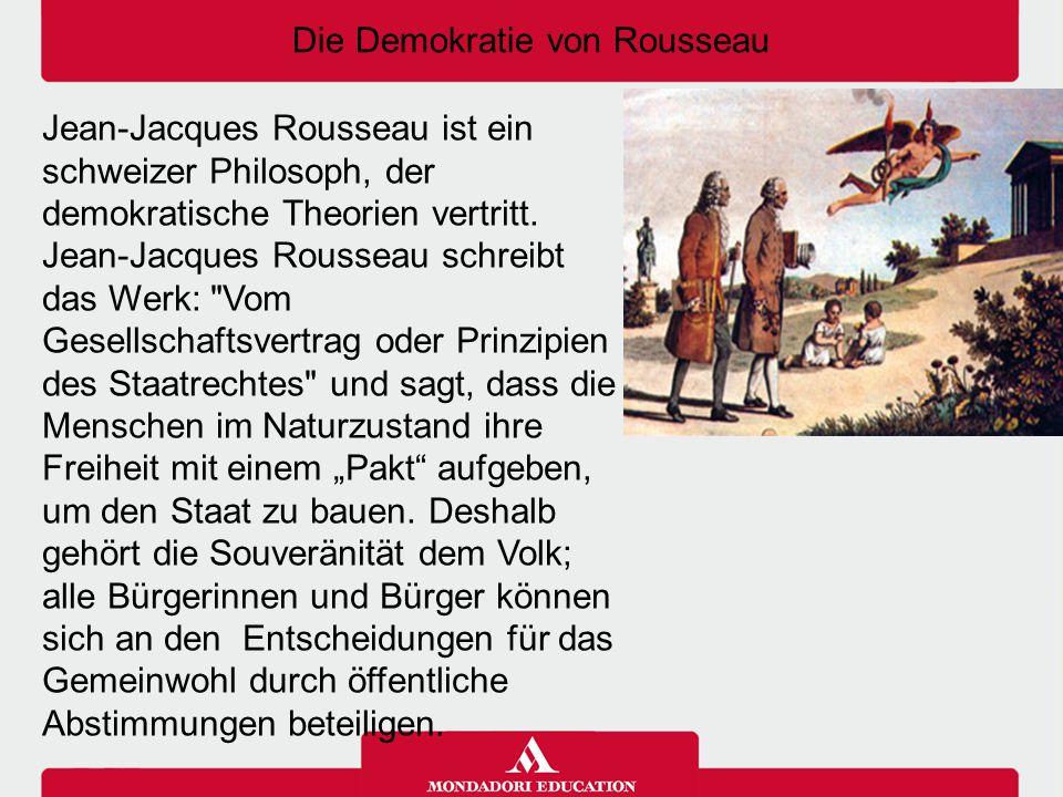 Die Demokratie von Rousseau
