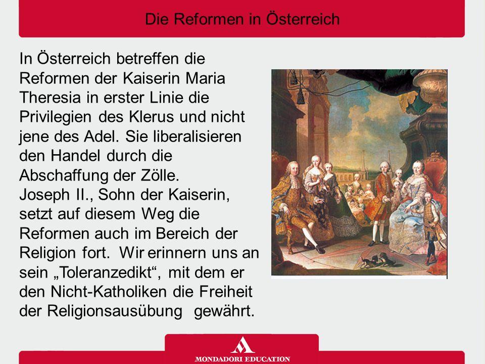 Die Reformen in Österreich