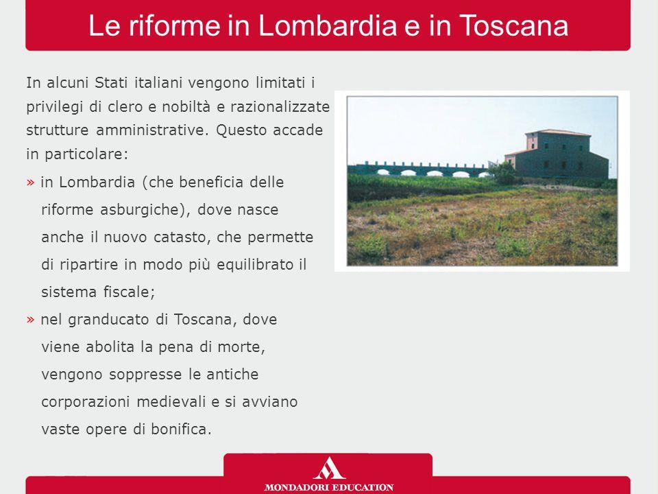 Le riforme in Lombardia e in Toscana