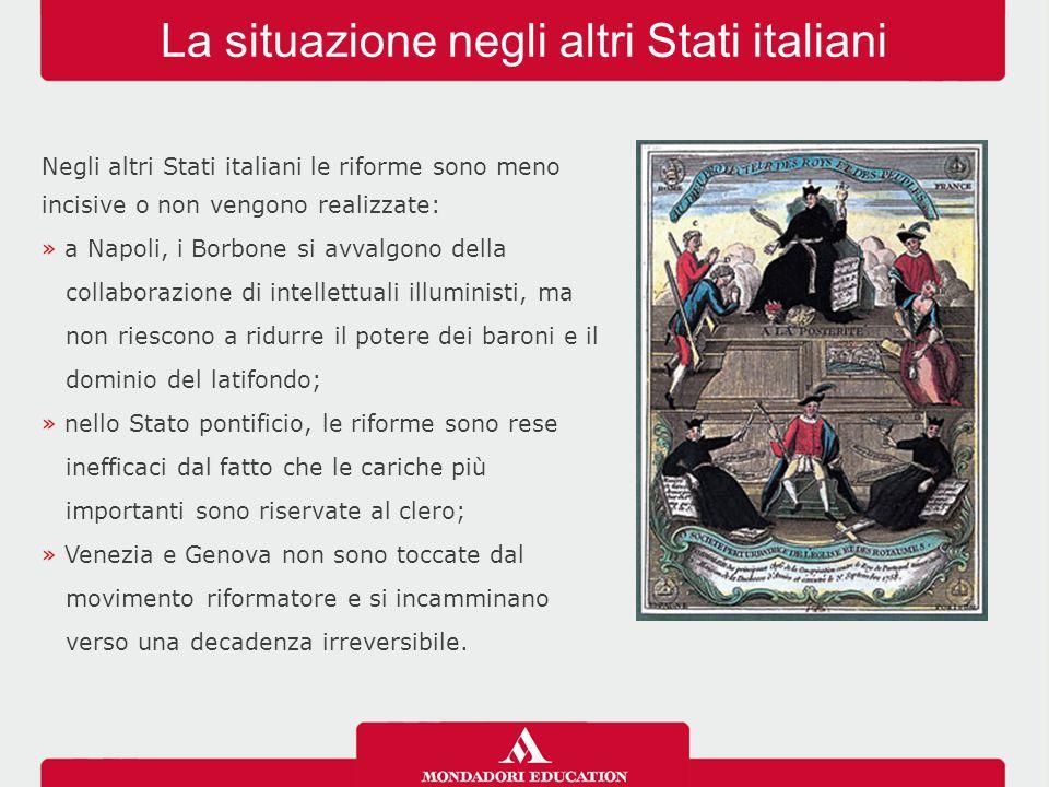 La situazione negli altri Stati italiani