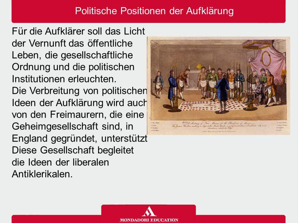 Politische Positionen der Aufklärung