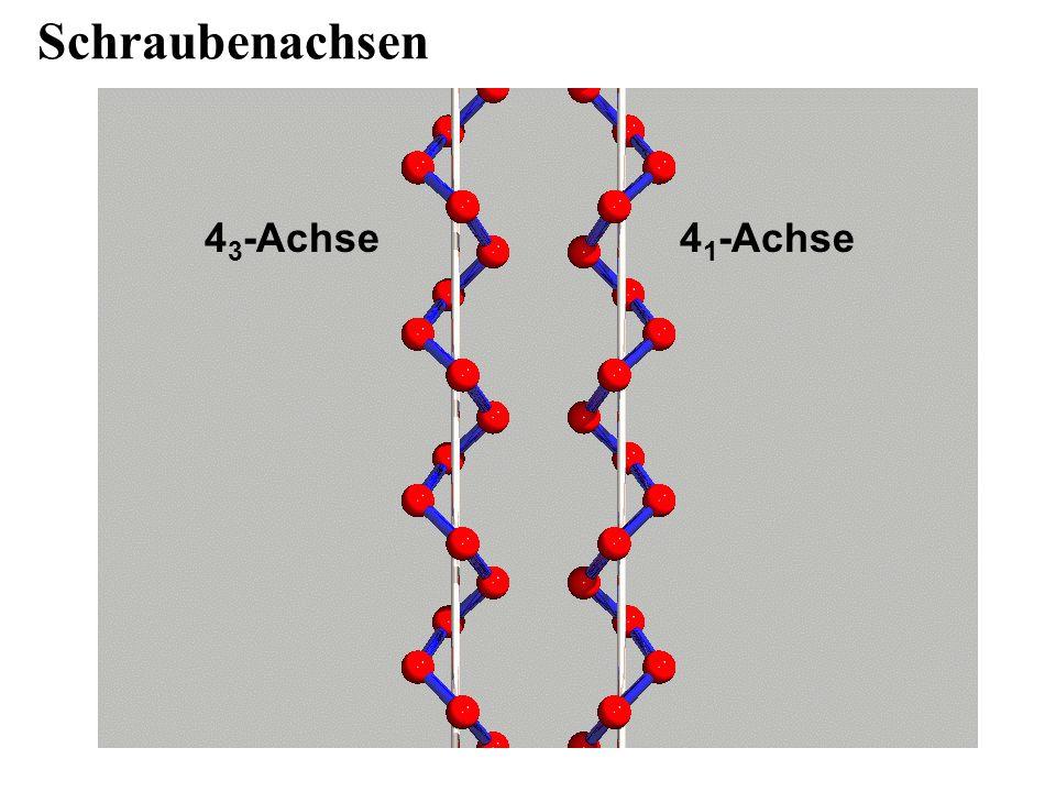 Schraubenachsen 43-Achse 41-Achse
