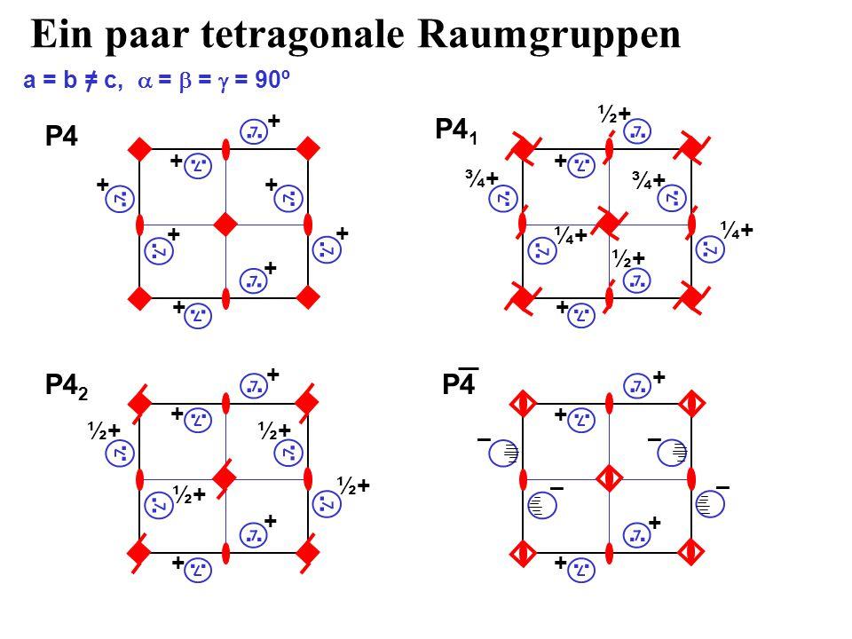 Ein paar tetragonale Raumgruppen