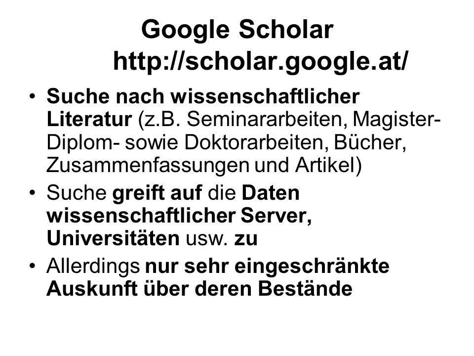 Google Scholar http://scholar.google.at/
