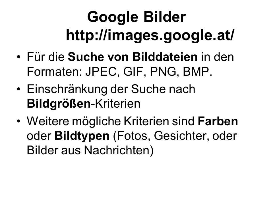 Google Bilder http://images.google.at/