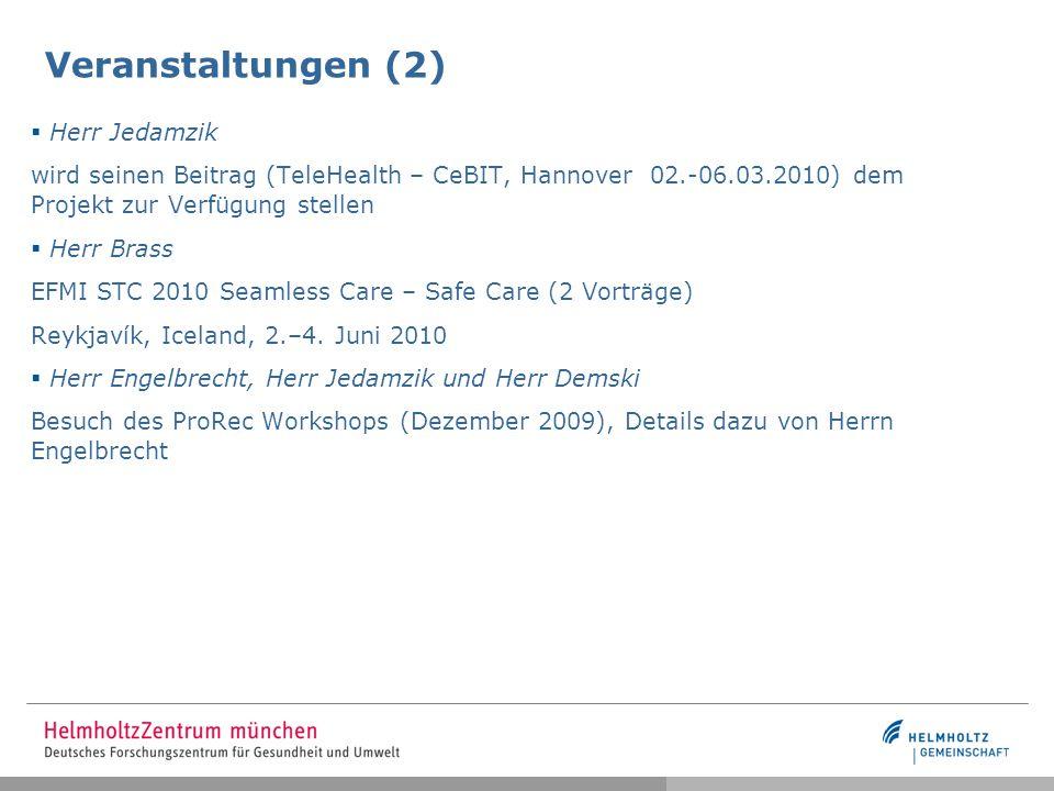 Veranstaltungen (2) Herr Jedamzik