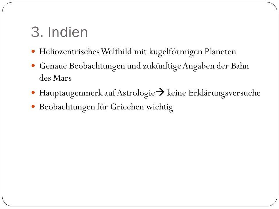 3. Indien Heliozentrisches Weltbild mit kugelförmigen Planeten